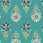 Art Gallery Fabrics - Fantasia - Knits - Krokos Sprites in Teal