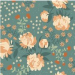 Birch Fabrics - Acorn Trail - KNIT - Peonies in Blue