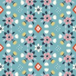 Birch Fabrics - Wildland - Knits - Flowerbed in Blue
