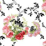 Blend Fabrics - Anna Griffin - Rose Vines in White