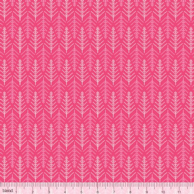 Blend Fabrics - Holiday - Christmas Dear - Tinsel Trees in Pink
