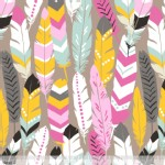 Blend Fabrics - Luckie - Fringe in Pink
