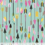 Blend Fabrics - Luckie - Quills Arrows in Turquoise