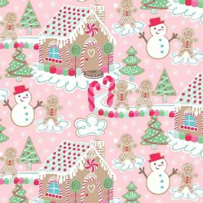 Blend Fabrics - Sugar Rush - Gingerbread Dream in Pink