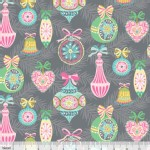 Blend Fabrics - Sugar Rush - Vintage Ornament in Grey