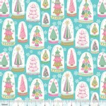 Blend Fabrics - Sugar Rush - Snowglobe Forest in Blue