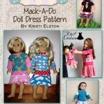 Burlap Button - Patterns - Charlie Mack-A-Doodle Doll Dress in PDF eFile