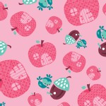 Camelot Fabrics - FairyVille - Apple Houses in Pink
