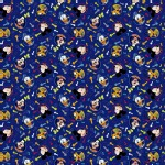 Character Prints - Mickey - Disney Mickey and Friends Head Toss in Blue