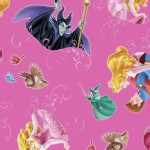 Character Prints - Princess - Sleeping Beauty Film Toss in Dark Pink