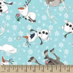 Character Prints - Princess - KNIT - Frozen Olaf and Seven Toss in Blue