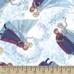 Character Prints - Princess - KNIT - Frozen Elsa and Anna Toss in White