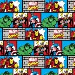 Character Prints - Super Heroes - KNIT - Marvel Wall in Multi