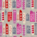 Cotton And Steel - Jubilee - In The City in Pink Metallic