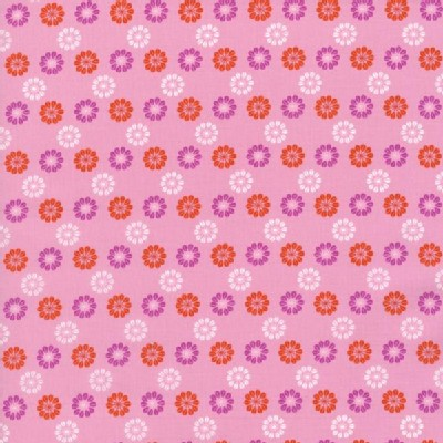 Cotton And Steel - Mustang - Flower Icons in Pink