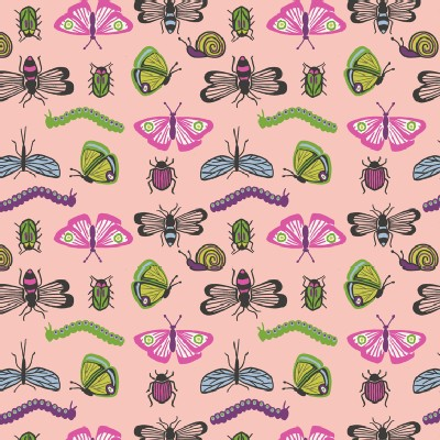 Lewis And Irene - Our Friends In the Garden - Bugs in Warm Pink