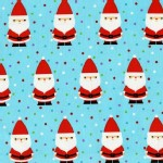 Michael Miller Fabrics - Holiday - Candy Claus in Aqua