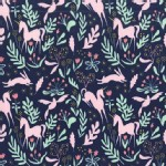 Michael Miller Fabrics - Magic - Magic Folk in Navy