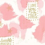Michael Miller Fabrics - Magic - You Are Magic in Pink
