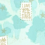 Michael Miller Fabrics - Magic - You Are Magic in Turqoise
