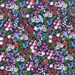 Michael Miller Fabrics - Saturday Morning - Fresh Flowers in Navy