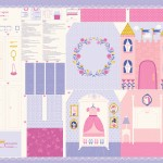 Moda Fabrics - Kids - Once Upon A Time - Castle Panel in Pink