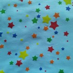 One Red Blossom - Knits  - Stars - Rainbow in Blue