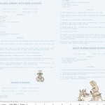 Riley Blake Designs - Bunnies and Cream - Recipes in Blue