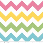 Riley Blake Designs - Chevron - Medium in Girl