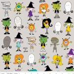 Riley Blake Designs - Halloween - Too Cute to Spook - Spook Crew in Gray