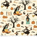 Riley Blake Designs - Halloween - Witch Main in Cream
