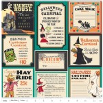 Riley Blake Designs - Halloween - Treat Cards Main in Teal