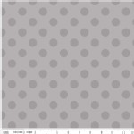 Riley Blake Designs - Hollywood - Sparkle Dots in Gray