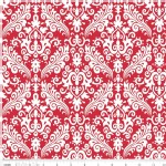 Riley Blake Designs - Hollywood - Sparkle Damask in Red