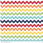 Riley Blake Designs - Knit Basics - Chevron in Rainbow