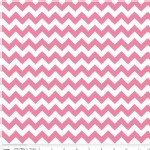 Riley Blake Designs - Knit Basics - Chevron in Hot Pink