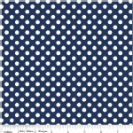 Riley Blake Designs - Knit Basics - Dots in Navy
