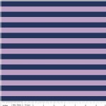 Riley Blake Designs - Knit Basics - Stripe in Navy / Purple