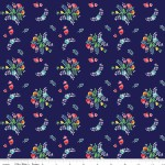 Riley Blake Designs - Knit Prints - Vintage Market Floral in Navy