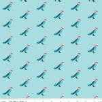Riley Blake Designs - Knit Prints - Idele Wild Birds in Blue
