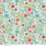 Riley Blake Designs - Little Red In the Woods - Floral in Mint