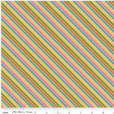 Riley Blake Designs - Unicorns and Rainbows - Unicorn Stripe in Pink