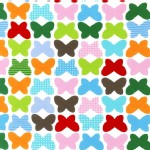 Robert Kaufman Fabrics - Laguna Jersey Prints - Butterfly in Bright