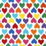 Robert Kaufman Fabrics - Laguna Jersey Prints - Heart  in Bright