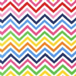 Robert Kaufman Fabrics - Laguna Jersey Prints - Chevron in Bright