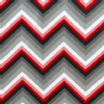 Robert Kaufman Fabrics - Laguna Jersey Prints - Tonal Chevron in Red