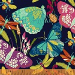 Windham Fabrics - Butterfly Dance - Butterflies in Navy