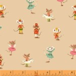 Windham Fabrics - SugarPlum - Nutcracker Mice in Peach