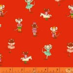 Windham Fabrics - SugarPlum - Nutcracker Mice in Red