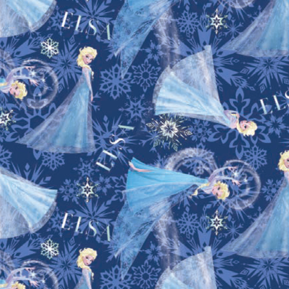 Character Prints Princess Frozen Elsa Toss Brushed Back Satin In Pink
